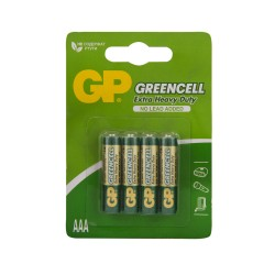 "Батарейка солевые GP ""Greencell AAA"", GP24G-CR4, 4 шт."