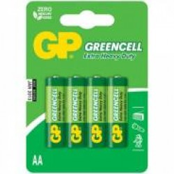 "Батарейка солевые GP ""Greencell AA"", 15G-2CR4, 4 шт."