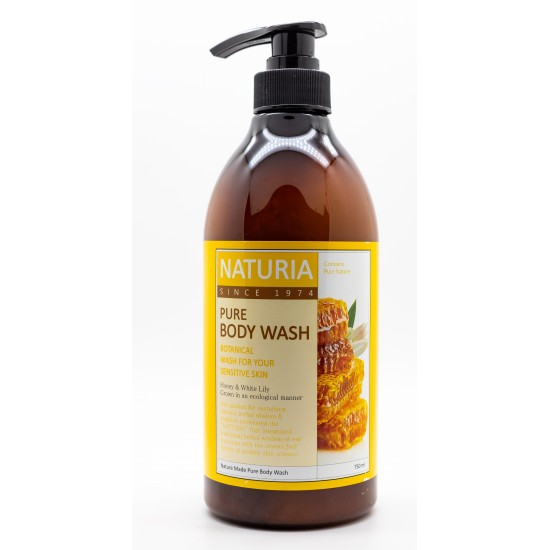 "Гель для душа PURE BODY WASH NATURIA ""мед и лилия Honey & White Lily, 750 мл."