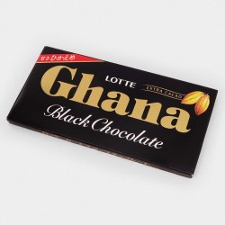"Шоколад Lotte ""Ghana, Black Chocolate"", чёрный, 50 гр."