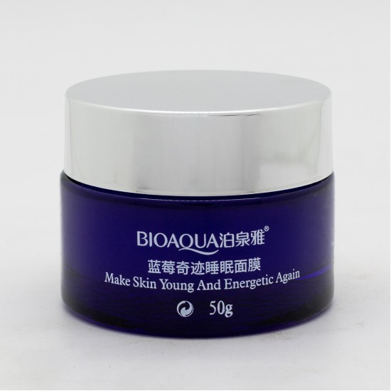 "Маска для лица Bioaqua ""Natural Blueberry Wonder Sleep Mask"", ночная, охлаждение, 50 гр."