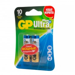 "Батарейки GP ""Ultra Plus Alkaline АА"", GP15AUP-2CR2, 2 шт."