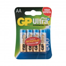 "Батарейки GP ""Ultra Plus Alkaline АА"", GP15AUP-2CR4, 4 шт."