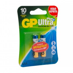 "Батарейки GP ""Ultra Plus Alkaline AAA"", GP24AUP-CR2, 2 шт."