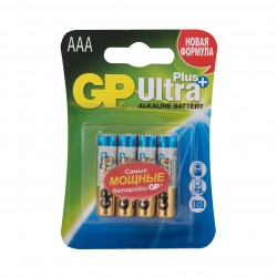 "Батарейки GP ""Ultra Plus Alkaline AAA"", GP24AUP-CR4, 4 шт."